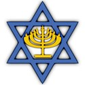 Star of David with Menorah