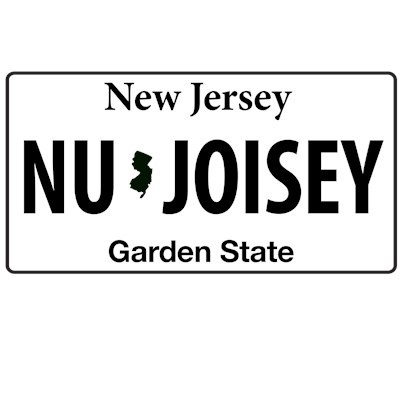 Nu Joisey lisence plate t-shirt from MTV's Jersey Shore