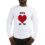 Stuck on you valentine Long Sleeve T-Shirt