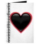 Black Glossy Heart Anti Valentine Journal