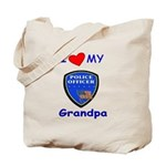 I Love My Police Grandpa Tote Bag