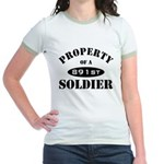 Property of a 891st Soldier Jr. Ringer T-Shirt