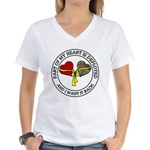 Part of my heart is deployed Women's V-Neck T-Shi
