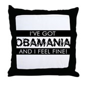 I've Got Obamania! Throw Pillow