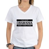 I've Got Obamania! Women's V-Neck T-Shirt