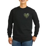 Love Military Cammo Heart Long Sleeve Dark T-Shirt