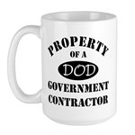 Property of a DOD Government Contractor Large Mug