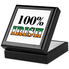 100 Percent Irish T-Shirts Keepsake Box