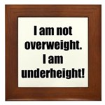 I am not overweight... Framed Tile