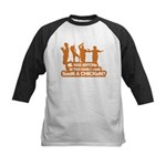 Chicken Dance Kids Baseball Jersey