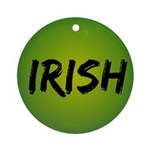 Irish Handwriting Ornament (Round)