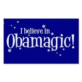 I Believe in Obamagic Rectangle Sticker