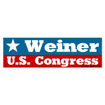 Anthony Weiner for U.S. Congress bumper sticker