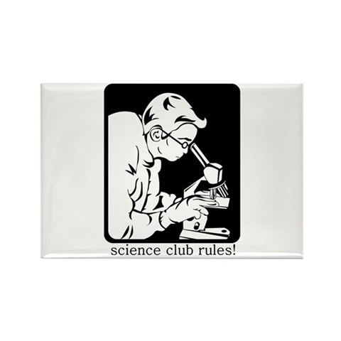 Science Club Rules Rectangle Magnet