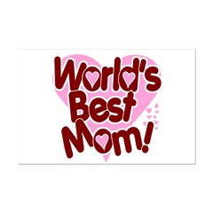 World's BEST Mom! Mini Poster Print
