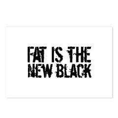 Fat Is The New Black Funny T-Shirts & Gifts Postcards (Package of 8)