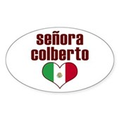Senora Colberto Oval Sticker