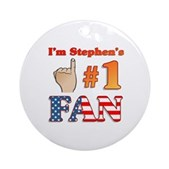 I'm Stephen's #1 Fan Ornament (Round)