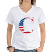 C stands for Colbert Women's V-Neck T-Shirt