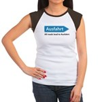 All roads lead to Ausfahrt Women's Cap Sleeve T-Shirt
