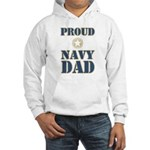 Proud Navy Dad Military Hooded Sweatshirt