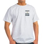 Proud Navy Dad Military Light T-Shirt