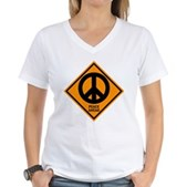 Peace Ahead Women's V-Neck T-Shirt