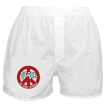Peace is the word Boxer Shorts
