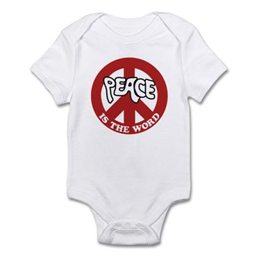 Peace is the word Infant Bodysuit