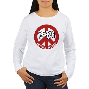 Peace is the word Women's Long Sleeve T-Shirt