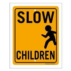 Slow Children Small Poster
