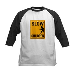 Slow Children Kids Baseball Jersey