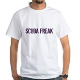 Scuba Freak White T-Shirt