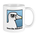 Save the Albatross (close-up) Mug