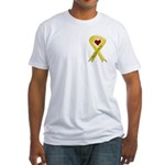 Take Care of my Son Yellow Ribbon Fitted T-Shirt