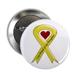 I Am Proud Of My Daughter Yellow Ribbon Button