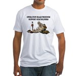 OIF Support our Soldiers Fitted T-Shirt