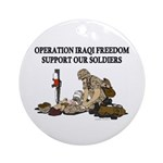OIF Support our Soldiers Ornament (Round)