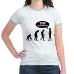 Evolution is following me Jr. Ringer T-Shirt