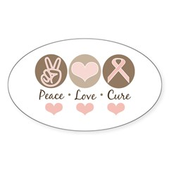 Breast Cancer Awareness Sticker (Oval)