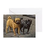 Pug Art Greeting Cards