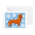 Red Dachshund Holiday Cards