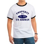 Property of a US Airman USAF Ringer T