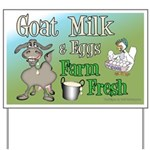 Goat Milk and Fresh Eggs Yard Sign