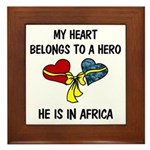 Navy Hero Africa Framed Tile