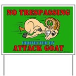Goat No Trespassing Yard Sign