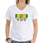 Proud Vietnam Veteran Vet Women's V-Neck T-Shirt