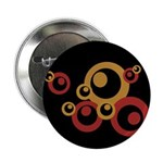 "Retro Orange Circles 2.25"" Button (100 pack)"
