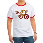 Retro Orange Circles Ringer T