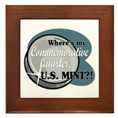 Where's My Commemorative Quarter? Framed Tile